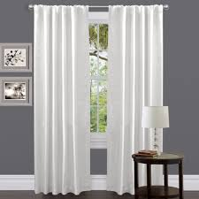 this venetian fax white curtain panel gives any window a clean and