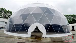 Geodesic Dome House 25m Span Width Geodesic Dome Tent Half Dome Tent For Event Party