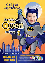 26 best 1st birthday invitation baby superheroes images on