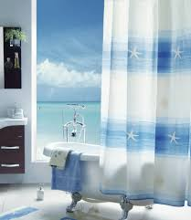 Beautiful Shower Curtains by Attractive Long Fabric Shower Curtains Creative Home Designer