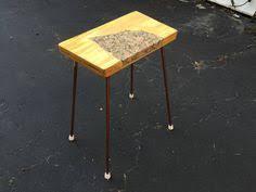 Granite Top Bistro Table Rustic Table Granite Top Dollhouse Miniature 1 12 Scale Hand
