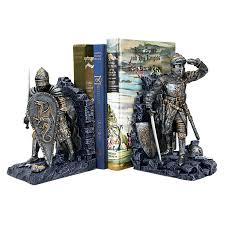 Book End Arthurian Knight Bookends Design Toscano Arthurian Knight Bookends