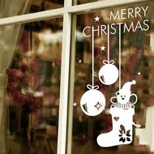 christmas window display stickers canada best selling christmas