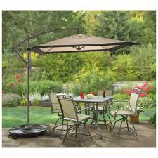 Patio Umbrella Replacement by Outdoor U0026 Garden White Square Cantilever Patio Umbrella For