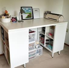 Craft Room Tables - craft room set up and organization goshery