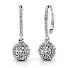 dangle diamond earrings midwest diamond distributors dangle diamond earrings