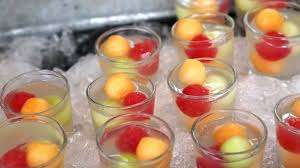 assortment of catering buffet finger food tropical fruits for