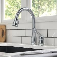touch technology kitchen faucet delta leland pull down touch single handle kitchen faucet with