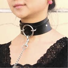 punk collar necklace images Sexy punk choker collar big o round leather choker bondage goth jpg