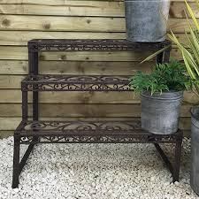 rustic cast iron 3 tired garden plant etagere the farthing