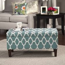 homepop large teal blue decorative storage ottoman free shipping