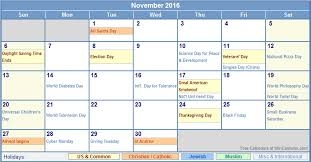 november 2016 calendar with holidays india usa canada malaysia