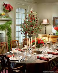 Xmas Table Decorations by Holiday Table Settings Martha Stewart