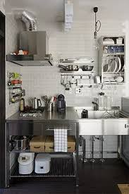 Stainless Steel Kitchen Cabinets Brick Wall Stainless Steel Kitchen Cabinets Brick Walls
