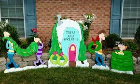 grinch yard artwhoville yard art decoration whoville tree