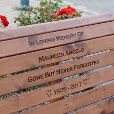 Engraved Benches Garden Memorial Bench