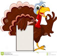 free funny thanksgiving ecards funny turkey cartoon posing with blank sign stock images image