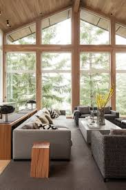 eco style for country house in the pine forest small design ideas