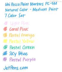 uni posca paint marker pc 5m natural color medium point 7