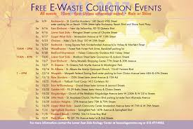 New York City 2017 Event Calendar 2017 Fall E Waste Events Lower East Side Ecology Center