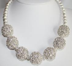silver rhinestone necklace images Large chunky silver rhinestone statement by 123gemstones on zibbet jpg