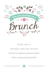 brunch invitation ideas free printable brunch party invitation templates greetings island
