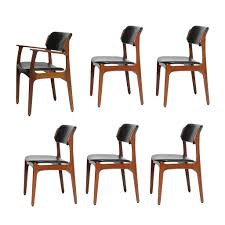 set of six rosewood eric buch dining chairs model 49 for illums