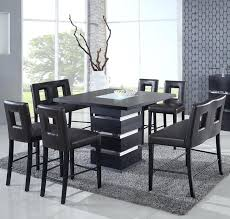 black counter height table set black counter height dining set modern counter height dining set