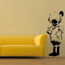online get cheap uk wall stickers aliexpress com alibaba group large wall sticker banksy diver girl life size bedroom art uk transfer decal black wall sticker