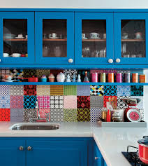 room creative colorful kitchens design ideas modern with