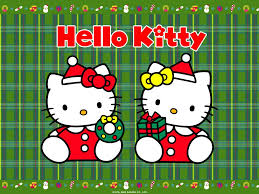 free wallpapers cartoons wallpaper kitty christmas