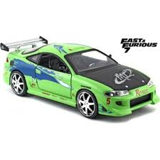 mitsubishi eclipse fast and furious 1 24 brians mitsubishi eclipse fast and furious 7