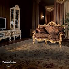 classic living room with grandfather clock painted and carved by