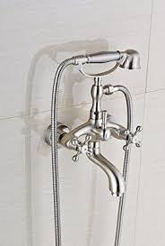 Bathtub Faucet Sets Votamuta Brushed Nickel Bathroom Wall Mounted Mixer Tub Filler