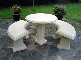 Concrete Patio Tables And Benches Stone Garden Furniture Pe3w9gp Acadianaug Org Garden Furniture