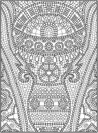 mosaic coloring pages free print coloringstar
