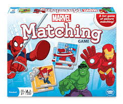 amazon com marvel matching game blue toys u0026 games