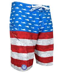 Mens Flag Shorts Men U0027s Sharkskin Americamo Boardshort Fishing Shorts Pelagic