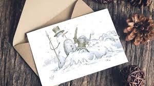 cards photo snowman greeting card collection by artorder kickstarter