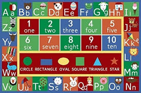 Alphabet Area Rug Kids Abc Alphabet Numbers Educational Non Skid Area Rug Kids