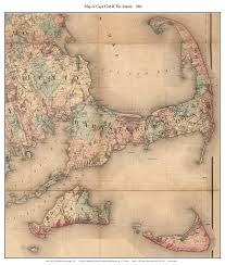 cape cod and the islands 1861 by h f walling reprint shows house