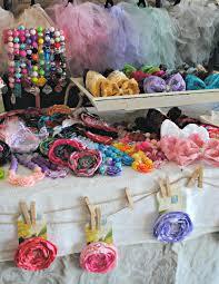 craft show booth set up handmade hair flowers hair bow clips