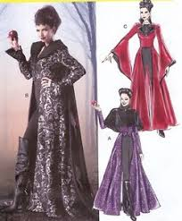 pattern for evil queen costume mccalls 6818 sz 4 20 once upon a