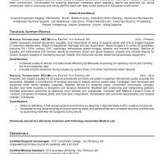 Example Technical Resume by Splendid Ideas Surgical Tech Resume 2 Free Surgical Technologist