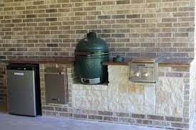 green egg outdoor patio traditional with outdoor stone walls