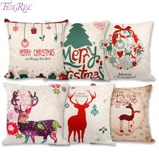 Christmas Decor For Home Fengrise 45x45cm Pillow Case Christmas Decorations For Home Santa
