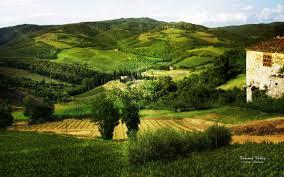 tuscany home landscape wallpaper