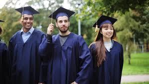 cartoon animation of students happy graduation celebration