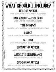 current events have your students use this form to summarize a