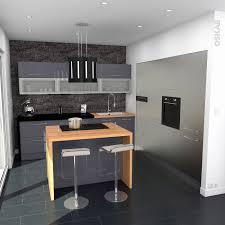 cuisine ilot bar bar cuisine design cuisine ilot central design avec noir carrelage